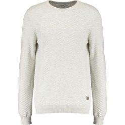 Swetry klasyczne męskie: Lindbergh STRUCTURE ONECK Sweter off white