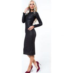 Sukienki: Sukienka midi dopasowana srebrna 6544