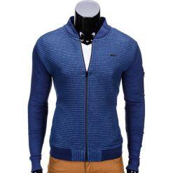 Bluzy męskie: BLUZA MĘSKA ROZPINANA BEZ KAPTURA B551 - GRANATOWA/MELANŻOWA