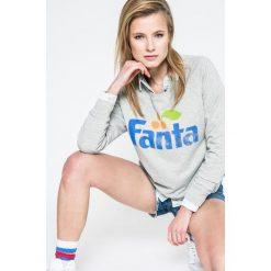 Only - Bluza Fanta. Szare bluzy z nadrukiem damskie marki ONLY, s, z bawełny, z okrągłym kołnierzem. W wyprzedaży za 89,90 zł.