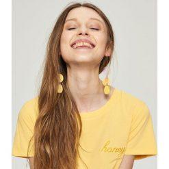 Kolczyki damskie: Długie kolczyki – Żółty