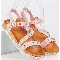 ANESIA PARIS różowe sandały z ćwiekami różowe. Czerwone sandały damskie ANESIA PARIS. Za 69,00 zł.
