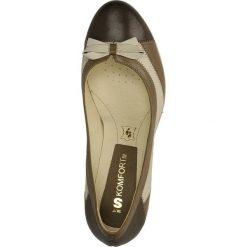 CZÓŁENKA BUT S U139-G47-0E0. Brązowe buty ślubne damskie Casu, na koturnie. Za 219,99 zł.