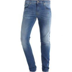 Blend Jeans Skinny Fit middle blue. Brązowe jeansy męskie marki Blend, l, z bawełny, bez kaptura. Za 209,00 zł.