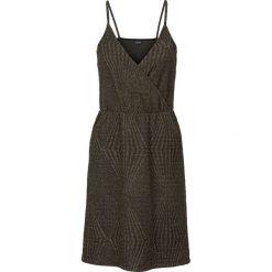 Sukienki hiszpanki: Sukienka shirtowa bonprix czarno-złoty