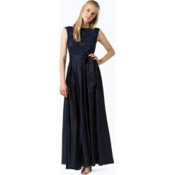 Swing - Damska sukienka wieczorowa, niebieski. Niebieskie sukienki balowe marki Swing, w koronkowe wzory, z koronki, z dekoltem na plecach. Za 749,95 zł.