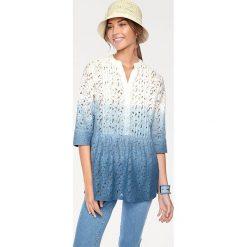 Odzież damska: Bluzka w kolorze biało-niebieskim