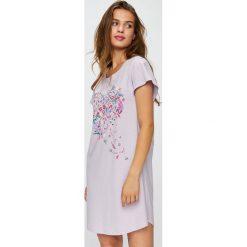 Triumph - Koszula piżamowa. Szare koszule nocne i halki Triumph, xs, z nadrukiem, z bawełny. Za 89,90 zł.