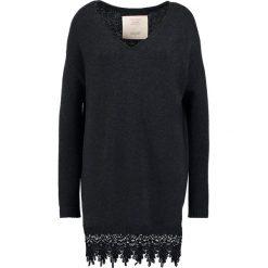 Swetry klasyczne damskie: Teddy Smith PURE Sweter noir chine