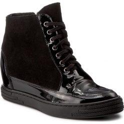 Sneakersy OLEKSY - 449/147/542 Czarny. Szare sneakersy damskie marki Oleksy, ze skóry. W wyprzedaży za 259,00 zł.