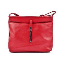 Torebki klasyczne damskie: Skórzana torebka w kolorze czerwonym – (S)18 x (W)22 x (G)5 cm