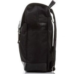 Plecak ze skóry Czarny PAOLO PERUZZI. Czarne plecaki męskie marki Paolo Peruzzi, ze skóry. Za 219,00 zł.
