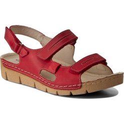 Rzymianki damskie: Sandały HELIOS – 690 Czerwony