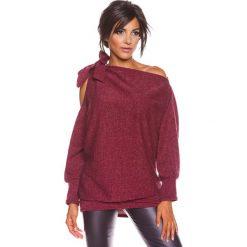 """Odzież damska: Sweter """"Pia"""" w kolorze bordowym"""