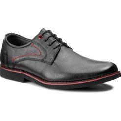 Półbuty VAPIANO - MFA1011A-3 Czarny. Czarne buty wizytowe męskie Vapiano, z materiału. Za 119,99 zł.