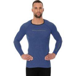 Koszulki sportowe męskie: Brubeck Koszulka męska 3D Run PRO z długim rękawem niebieska r. XXL (LS13000)