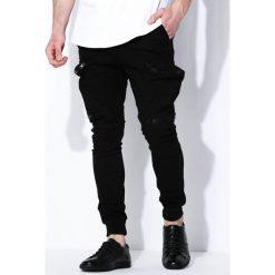Spodnie męskie: Czarne Spodnie Street Level