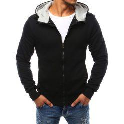 Bluzy męskie: Bluza męska z kapturem rozpinana czarna (bx2400)