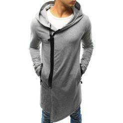 Bluzy męskie: Bluza męska rozpinana z kapturem szara (bx3238)