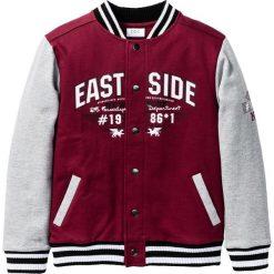 """Bluza rozpinana """"college"""" bonprix bordowo-jasnoszary melanż. Czerwone bluzy chłopięce rozpinane marki bonprix, m, melanż. Za 59,99 zł."""