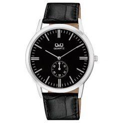 Zegarek Q&Q Męski Klasyczny QA60-302 Pasek czarny. Czarne zegarki męskie Q&Q. Za 119,80 zł.