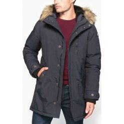 Płaszcze przejściowe męskie: Długi płaszcz z kapturem
