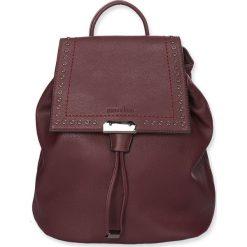 """Plecaki damskie: Plecak """"Milan"""" w kolorze bordowym – 31 x 26 x 14 cm"""