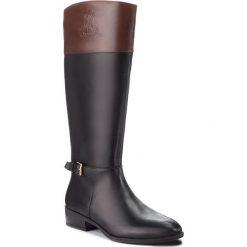 Oficerki LAUREN RALPH LAUREN - Madisen 802712326003 Black/Dark Brown. Czarne buty zimowe damskie Lauren Ralph Lauren, z gumy, na obcasie. Za 829,90 zł.