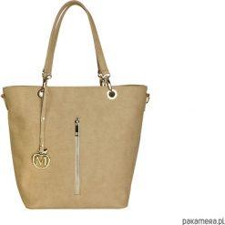 Kuferki damskie: Duża torebka kuferek MANZANA hot beżowa