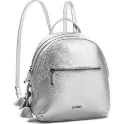 Plecak LIU JO - Backpack Niagara N18124 E0037 Nikel 00275. Czarne plecaki damskie marki Liu Jo, z materiału. Za 599,00 zł.