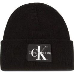 Czapka CALVIN KLEIN JEANS - J Basic Men Knitted K50K504173  016. Czarne czapki męskie Calvin Klein Jeans, z jeansu. Za 179,00 zł.