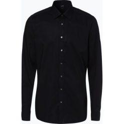 Olymp Level Five - Koszula męska łatwa w prasowaniu, czarny. Czarne koszule męskie na spinki OLYMP Level Five, m, z klasycznym kołnierzykiem. Za 199,95 zł.