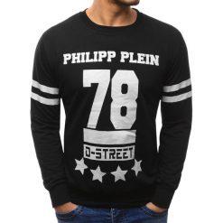 Bluzy męskie: Bluza męska z nadrukiem czarna (bx1825)