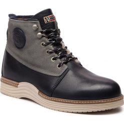 Kozaki NAPAPIJRI - Edmund 17843019 Blue Marine N65. Niebieskie buty zimowe męskie marki Napapijri, ze skóry. W wyprzedaży za 489,00 zł.