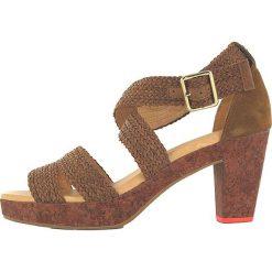 """Rzymianki damskie: Skórzane sandały """"Tahiti"""" w kolorze jasnobrązowym"""