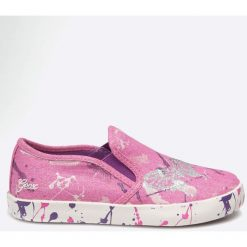 Geox - Tenisówki dziecięce. Szare buty sportowe dziewczęce Geox, z gumy. W wyprzedaży za 169,90 zł.