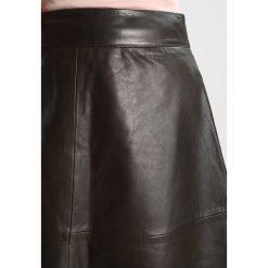 Spódniczki skórzane: Mads Nørgaard STELLY CLEAN Spódnica trapezowa olive