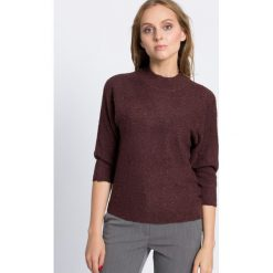 Vero Moda - Sweter. Niebieskie swetry klasyczne damskie marki Vero Moda, z bawełny. W wyprzedaży za 59,90 zł.