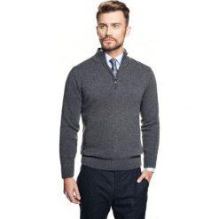 Sweter nagore troyer szary. Szare swetry klasyczne męskie Recman, m, z kołnierzem typu troyer. Za 249,00 zł.