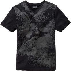 T-shirt Slim Fit bonprix czarny z nadrukiem. Czarne t-shirty męskie z nadrukiem marki bonprix, l. Za 44,99 zł.