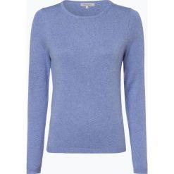 Apriori - Sweter damski z mieszanki jedwabiu i kaszmiru, niebieski. Niebieskie swetry klasyczne damskie marki Apriori, l. Za 299,95 zł.