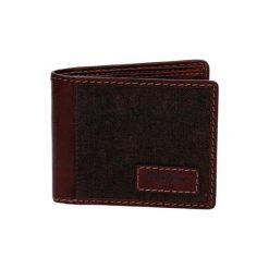 Portfele męskie: Skórzany portfel w kolorze brązowym – (D)10,5 x (S)8,5 cm