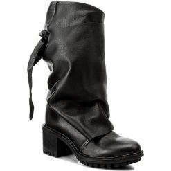 Kozaki EVA MINGE - Adalina 2A 17MJ1372187EF 101. Czarne buty zimowe damskie marki Eva Minge, ze skóry, przed kolano, na wysokim obcasie. W wyprzedaży za 289,00 zł.