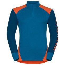 Odlo Koszulka tech. Shirt l/s turtle neck 1/2 zip WARM Revel - 150672 - 150672/30366/L. Niebieskie t-shirty męskie Odlo, l. Za 180,04 zł.