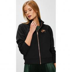 Nike Sportswear - Bluza. Czarne bluzy rozpinane damskie Nike Sportswear, l, z bawełny, bez kaptura. W wyprzedaży za 239,90 zł.
