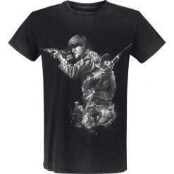 Call Of Duty WWII T-Shirt ciemnoszary. Niebieskie t-shirty męskie z nadrukiem marki Reserved, l, z okrągłym kołnierzem. Za 42,90 zł.