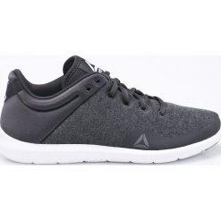 Reebok - Buty STUDIO BASICS. Szare buty do fitnessu damskie marki Reebok, l, z dzianiny, z okrągłym kołnierzem. W wyprzedaży za 179,90 zł.
