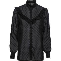 Bluzka szyfonowa w kropki bonprix czarny. Czarne bluzki asymetryczne bonprix, w kropki, z szyfonu. Za 109,99 zł.