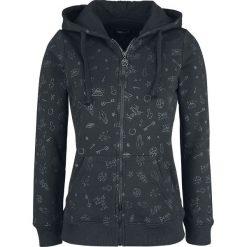 Gothicana by EMP Freaking Out Loud Bluza z kapturem rozpinana damska czarny. Czarne bluzy rozpinane damskie marki Gothicana by EMP, xl, z kapturem. Za 166,90 zł.