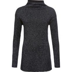 Sweter dzianinowy z lureksową nitką bonprix czarno-srebrny. Niebieskie swetry klasyczne damskie marki ARTENGO, z elastanu, ze stójką. Za 99,99 zł.